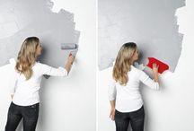Wand bewerking