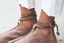 Deri sandalet ve ayakkabı