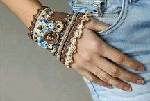 gehaakte armbanden/ polswarmers