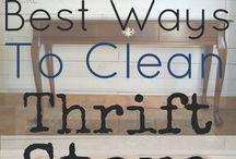 Clean thrift store furniture