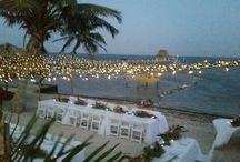 Belize Wedding Beach Setup