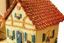 Crochet houses