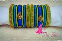 Silk thread jewellerty