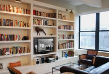 Wall unit shelving