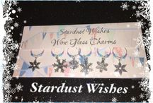 Stardust wishes wine glass charms