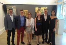 """Slovenska ambasada vo Viedni - umelecka vystava Ingrid Zamecnikovej """" Achiles"""""""