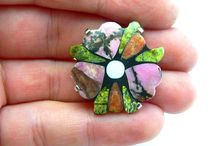 Crazy stone mosaic Rings