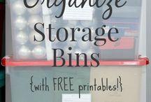 Organising Tips / Organise Storage Bins