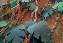 decorações em papel