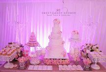 Candy Bar mariage Perles by Sweet candy Shower / Thème rose blush et perles .Sweet table élégante et raffinée .