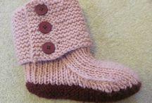 Strikkede sokker / Vinter
