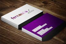 Cartões de Visita / Que tal um pouco de inspiração para futuras criações de cartões de visita? Novas combinações de cores, formatos, cortes…