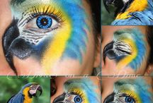 Bird Faces / Face Painting Designs