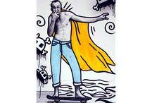Icon Pop Art Tribute by Massimo Sirelli / Pablo Picasso, Jean Michel Basquiat, Mimmo Rotella, Keith Haring, Banksy, Andy Wharol, Mark Rotko, Salvador Dalì and more Art Tribute by Massimo Sirelli