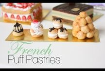 tutorials: food (pastries) / Dollhouse scale tutorials for pastries, muffins, and sweet rolls.