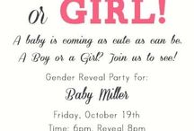 Gender reveal ideas / by Melanie Fusilier
