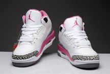 Nike sneaker heals and Jordans