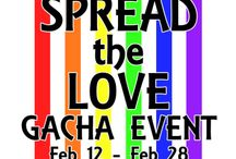 """Spread the Love / Spread the Love is a SLGBTA event and a chairty that """"will raise linden for PFLAG, an out of world organization that brings together and supports the families of the LGBT community through education and outreach."""" for more info check their blog: http://slgbta.wordpress.com/spread-the-love-event/ Location: http://maps.secondlife.com/secondlife/Sky%20High/89/129/23"""
