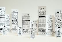 Paper cities stop motion