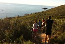 """Lion's Head Trail Run / For pristine single track and fantastic sunset sights, get off the beaten track to enjoy a spectacular run around the base of Lion's Head.  Lion's Head was originally called """"Leeuen Kop"""" by the Dutch, as this 669m peak stretching above the city looks like a proud lion watching over his kingdom. www.runcapetown.co.za"""