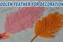 Wool yarn, włóczka, pompony