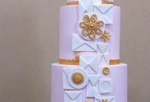 lavendar/purple wedding cakes / by Robin Koelling