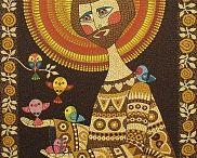 sao Francisco  mosaico de tinta