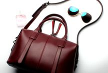Fashionable leather bag for ladies