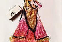 ethnic fashion illus.