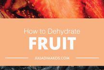 DIY dehydrated fruit