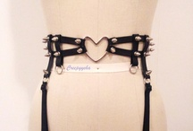 Strapped / Body harnesses and garter belts for inspiration
