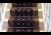 New Stair Carpet Rods / A very happy customer with his new stair rods in place.