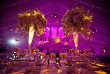 Wedding Reception Layouts / Table decorations and layouts of wedding reception interiors.