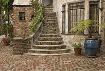 Treppe außen