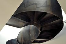 Helix Modern Metal Stairs / The Double helix stair. Difficult to build, beautiful to look at. One of the best design of stairs nowadays.