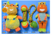 Mugsy's / Boxed multi pack toys for large and small dogs.