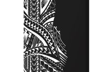 canvas wall art with tribal Polynesian designs / These are the canvas prints I designed from my tribal Polynesian and Maori tattoo drawings. You can order it in various different sizes from my Zazzle shop