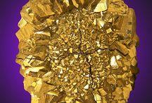 Sten, mineraler, krystaller