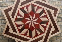 McDonald Wood Floor Inlay Double Square Style / Hardwood Floor Medallion Double Square Style