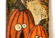 Halloween Mixed Media / Mixed Media Halloween items