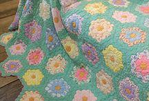 A VINTAGE QUILT 1 / dear old vintage quilt / by Dorte Rasmussen.Denmark