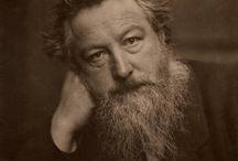 William Morris / William Morris, né le 24 mars 1834 à Walthamstow, Essex et mort le 3 octobre 1896 à Hammersmith, Londres, est un fabricant designer textile, imprimeur, écrivain, poète, conférencier, peintre