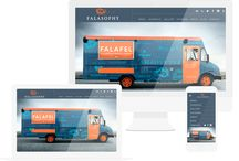 Food Trucks Design & Websites / Food trucks, food carts, vehicles, street food, etc. Beautiful food truck design both on the truck and on the web.