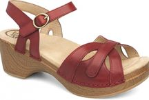 Dansko Sandals / Dansko shoes are great for those who are on their feet for long periods of time. Dansko are all hand stapled giving each pair a different fit and feel. Dansko's are made of real leather. Dankso's are stain resistant, slip resistant, stylish while offering great arch support, and a support for your knees, hips, and back.