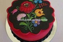 Kalocsai torta + díszmunka csoki kép