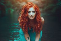 red hair and colors