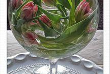 bloemen op vaas