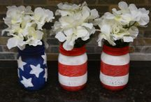 Patriotic / Red, white, and blue crafts. / by Beverly Fabrics