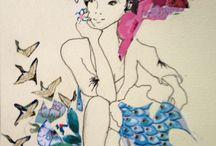 Lucy Prior Art Fashion Illustration