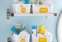 Banheiros / Ideias, dicas, truques, organização, decoração e soluções práticas para banheiros.